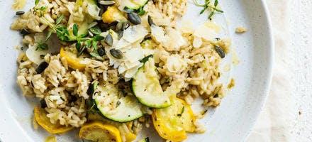 Recette de riz aux courgettes