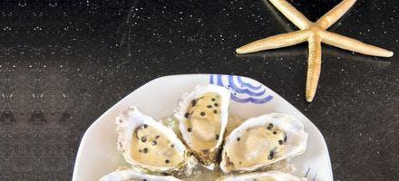 Huîtres chaudes spéciales au poivre noir de Kampot