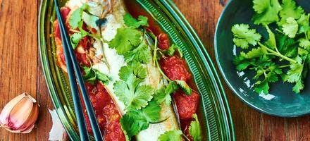 Merlan à la tomate à la vietnamienne