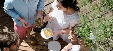 Clafoutis aux abricots et estragon