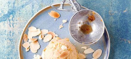 Sorbet façon tarte amandine & mirabelles