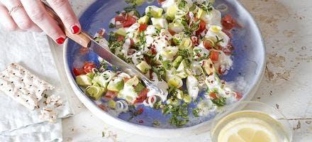 Salade comme un ceviche