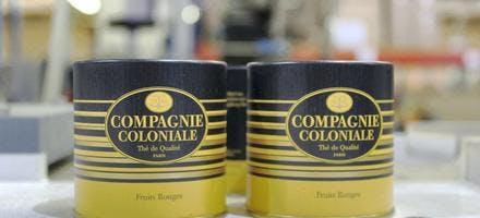 Boîtes de thé compagnie coloniale