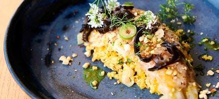 Ceviche de sar de Ciboure, maïs et piment