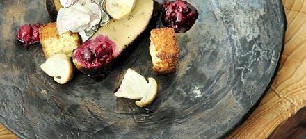 Foie gras rôti et polenta de maïs