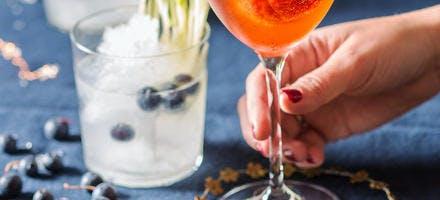 Spritz champagne et sorbet framboises