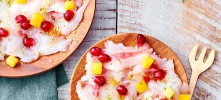 Ceviche de bar des îles aux fruits exotiques