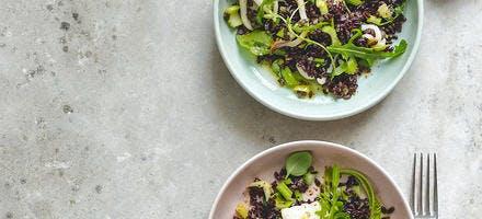 Salade de riz noir aux seiches