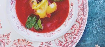 Soupe de tomates à la menthe