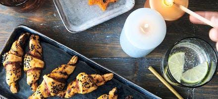 Mini-croissants et étoiles de polenta pour l'apéro