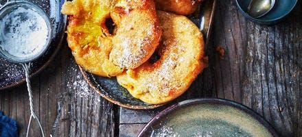 Beignets d'ananas vanille et rhum