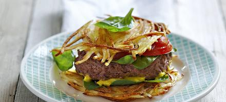 Hamburger en paillasson