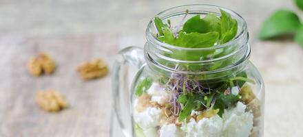 "Salade d'automne ""in a jar"""
