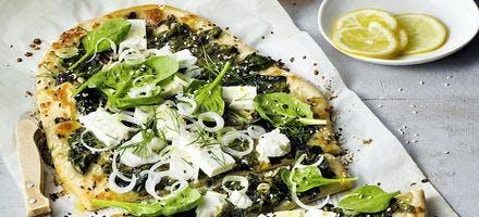 Pizza feta épinards