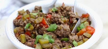 Boeuf aux légumes grillés et gingembre