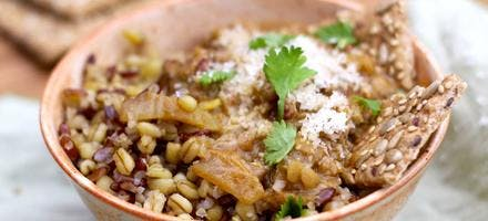 Bowl de lentilles corail au curry