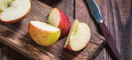 Pastèque et pommes grillées en brochettes