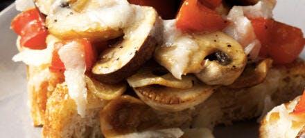 tta aux champignons et grana padano aop