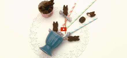 Mon gâteau de Recette filmée : lapins en chocolat à la guimauve  2 en 1