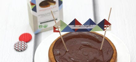 Gâteau d'anniversaire chocolat framboise