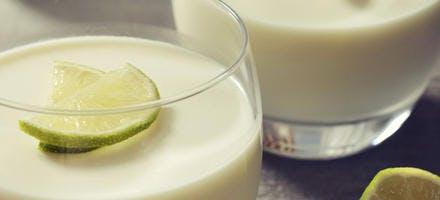 Crème dessert au coco et citron vert