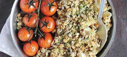 Crumble de poisson et tomates