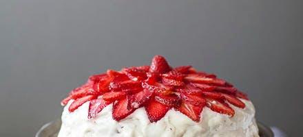 Gâteau crémeux à la fraise