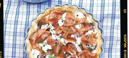tarte au saumon à la norvégienne