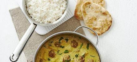 curry de boulettes de dinde à l'ananas