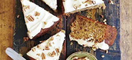 gâteau glacé aux noix de pécan