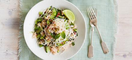 salade de nouilles au crabe
