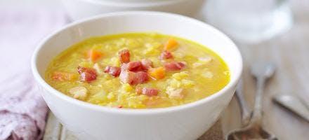 soupe de lentilles aux lardons