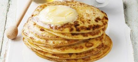 Sauce butterscoth sur pancakes
