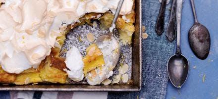 Pudding au citron meringué
