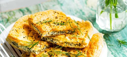 Tourte börek au fromage et aux herbes