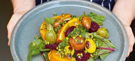 Salade de carottes, courgettes et courge