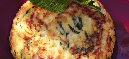 Petites omelettes au brocciu et à la menthe