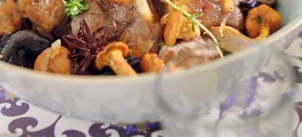 Veau aux champignons façon tajine