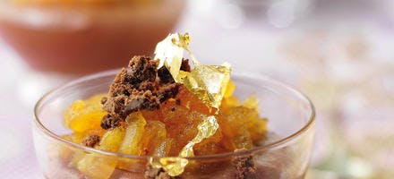Chaud-froid pom-choco façon crumble