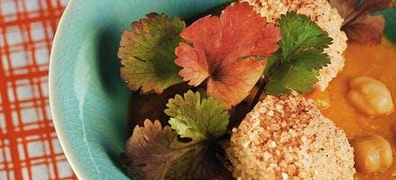 Croquettes de semoule et velouté de légumes