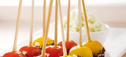 Tomates cerise déguisées à la japonaise