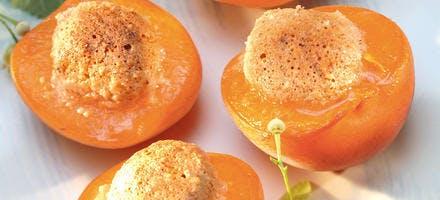 Abricots rôtis et amandes