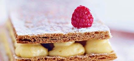 Grand mille-feuille à la vanille