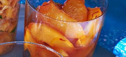 Pêches et citron aux pistils de safran
