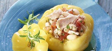 Tomate farcie au thon et aux cocos de Paimpol