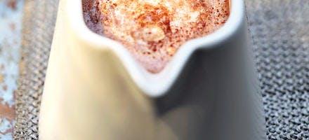 Chocolat chaud au rhum