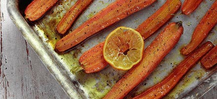 Carottes rôties à l'orange et au cumin