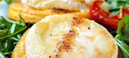 Chabichou sur polenta