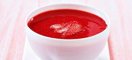 Soupe de fraise à la fleur de sel