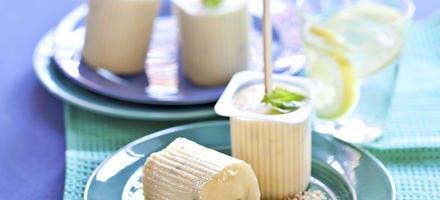 Sucette glacée façon tarte au citron